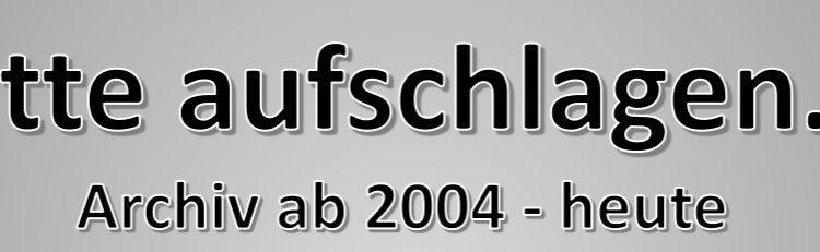 """Archiv """"bitte aufschlagen"""" 2004 – 2017"""