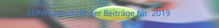 SEPA-Lastschrifteinzug Mitgliedsbeitrag für 2019